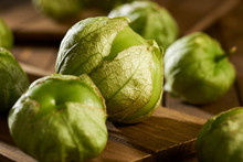 Close Up Photo Of Green Tomatillos