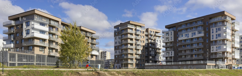 Fototapeta New standard  homes  with low cost apartments