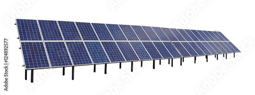 Standard solar electric panels - Buy this stock photo and