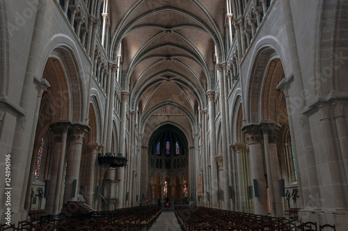 Fotografie, Obraz  Interior of the Cathedral of Notre Dame in Lausanne, Switzerland