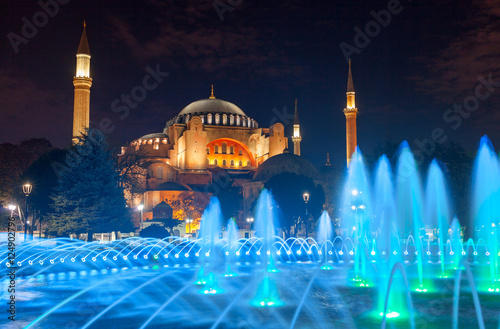 Hagia Sophia, a former Orthodox patriarchal basilica, later  mosque and now  museum in Istanbul, Turkey Poster