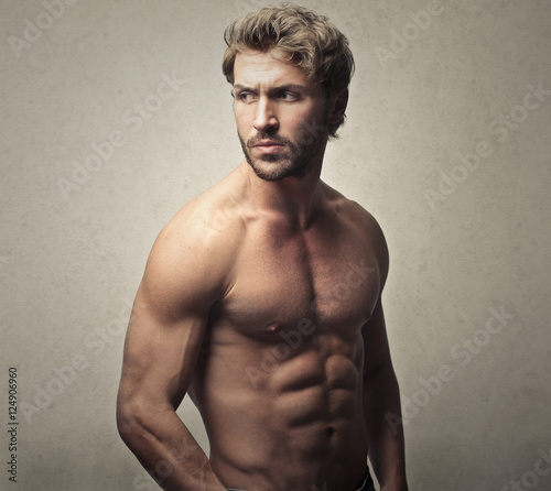 Handsome man with perfect body