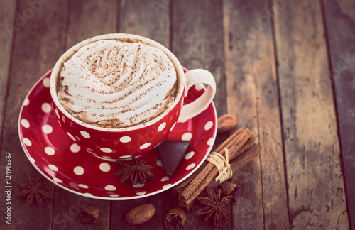 Canvas Prints Chocolate Hot chocolate with whipped cream