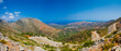 Breathtaking and beautiful mountain landscape with mountain asphalt road in Greece, Crete