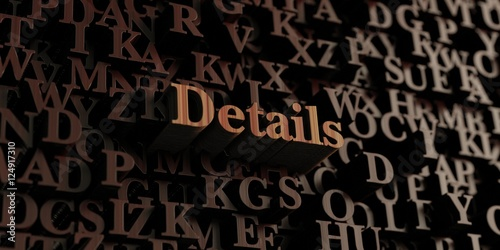 Details - Wooden 3D rendered letters/message. Can be used for an online banner ad or a print postcard.