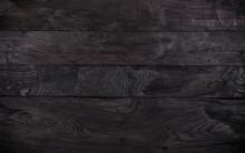 Black Wood Background, Charred...