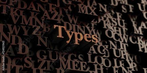 Fotografie, Obraz  Types - Wooden 3D rendered letters/message