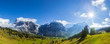 canvas print picture - Alpen Panorama