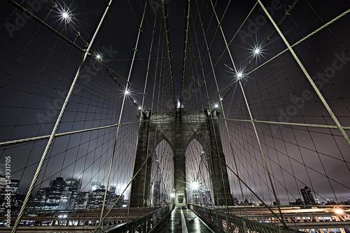 Tuinposter Brooklyn Bridge Brooklyn Bridge at Night