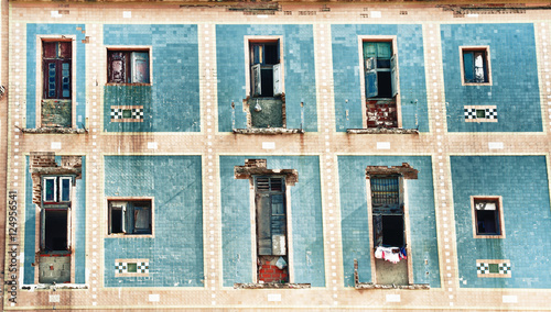 Recess Fitting Havana Old Havana building facade with shabby balconies