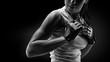 Leinwanddruck Bild - Woman in sports clothing