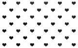 Watercolor hearts on white background pattern. - 124967395