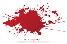 Abstract Blood Splatter Isolat...