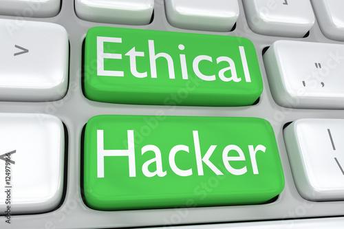 Fotografie, Obraz  Ethical Hacker concept
