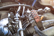 lpg car injectors in old car engine need to service, gas injecto