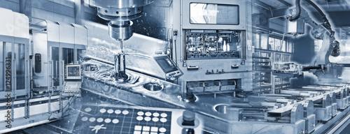 Produktion in der Industrie Fototapete