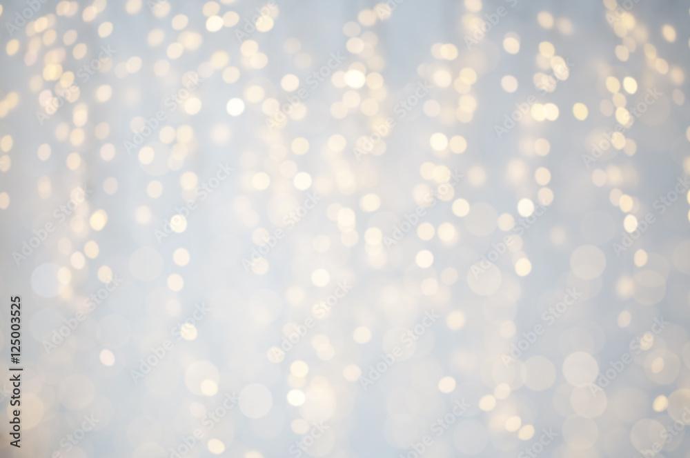 Fototapety, obrazy: blurred christmas holidays lights bokeh