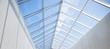 Leinwanddruck Bild - modern building or pavilion glass roof