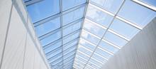 Modern Building Or Pavilion Gl...