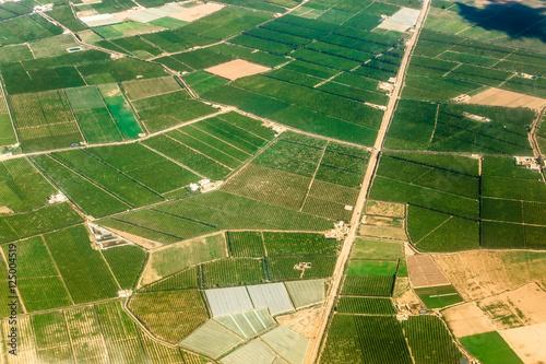 Fototapeta Widok z samolotu wzdłuż linii brzegowej, Maroko - Ocean Atlantycki - Afryka obraz