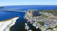 Destin, Florida. Aerial View Of Beautiful City Skyline