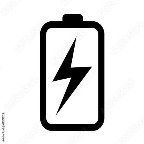 battery icon illustration idesign Fotobehang