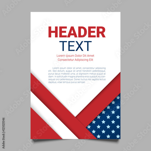 usa patriotic background vector illustration with text stripes and stars for posters flyers