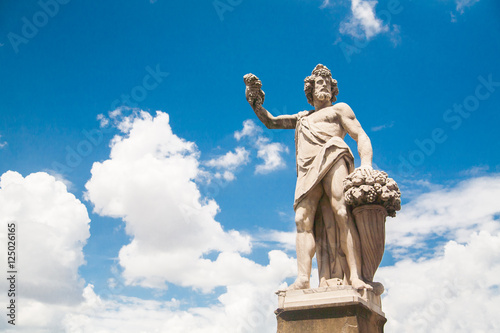 Statue of Autumn, or Bacchus in Holy Trinity Bridge Canvas Print