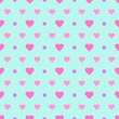 Polka Dot & Heart, Seamless background with abstract hearts