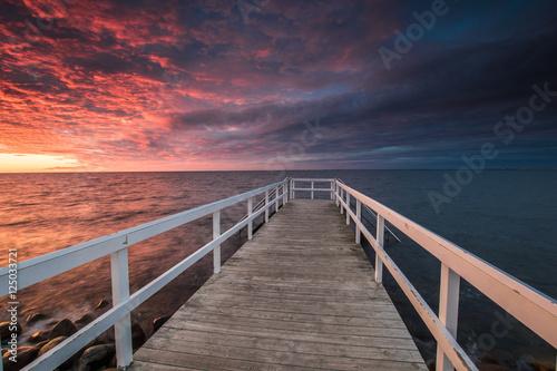 Photo Stands Night blue Dramatisk himmel
