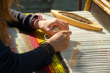 Crafts. Hand Weaving Loom With...