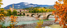 Bobbio - Beautiful Ancient Town With Impressive Roman Bridge, Italy