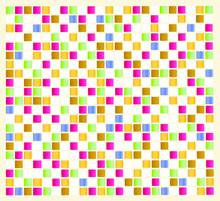 Azulejo De Quadrados Pequenos Coloridos Em Fundo Beje