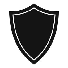 Shield For War Icon. Simple Il...