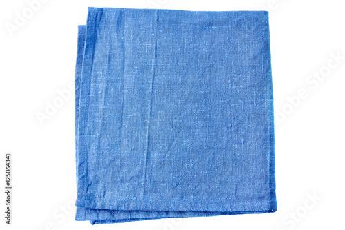 Fototapeta Blue fabric napkin on white obraz