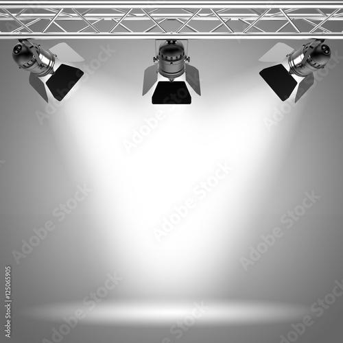 Foto op Canvas Licht, schaduw Licht Strahler