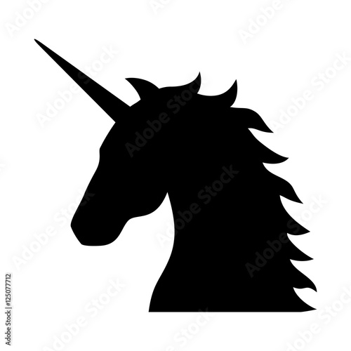 Photo  Unicorn - legendary mythical creature flat icon for apps and websites