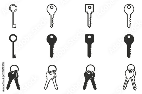 Key icon set. Tapéta, Fotótapéta