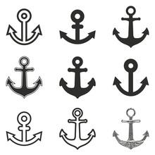 Anchor Icon Set.
