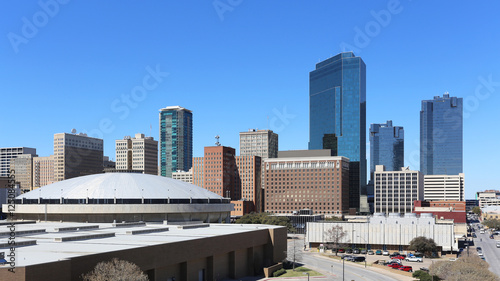 Fotografia, Obraz  A view of the skyline of Fort Worth, Texas.
