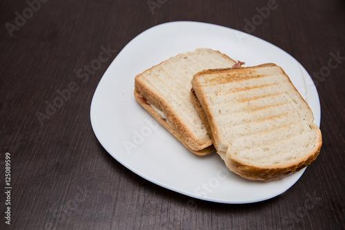 Fotografie, Obraz  toast in un piatto