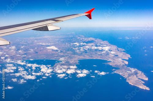 Photo  Landeanflug auf Mallorca am Cap Formentor