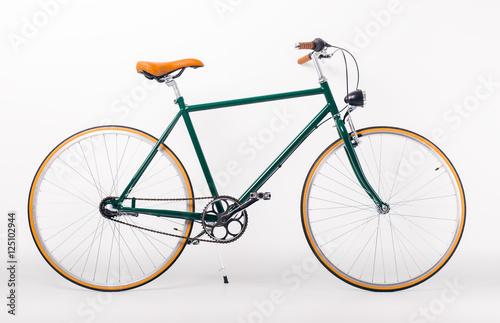 Aluminium Prints Bicycle Studio shot of retro styled bicycle