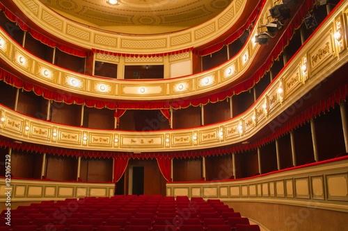 Empty classical theater interior