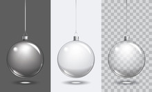 Vector Christmas Glass Ball On...