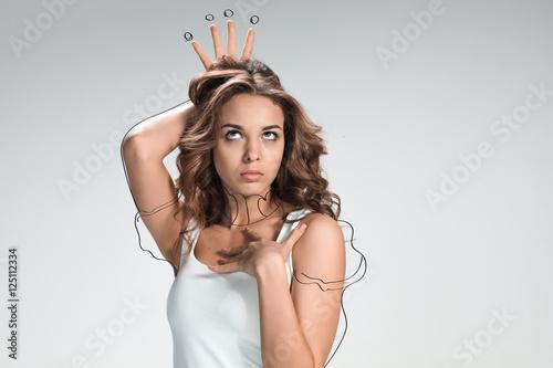 Fotografie, Obraz  Handsome narcissistic proud young woman