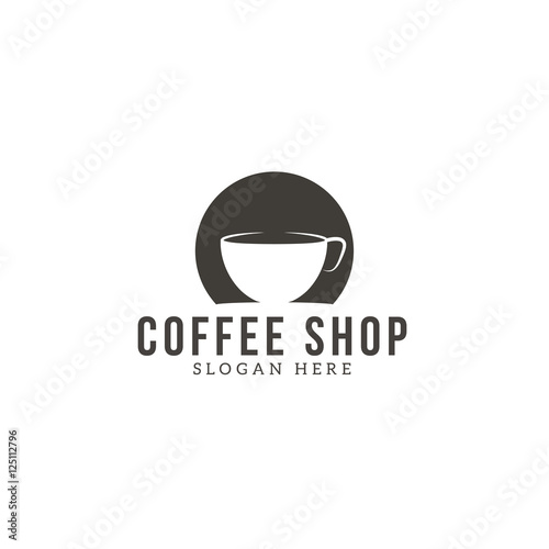 coffee logo concept dentity for Restaurant, Cafe, Royalty, Boutique, Heraldic, and other vector illustration