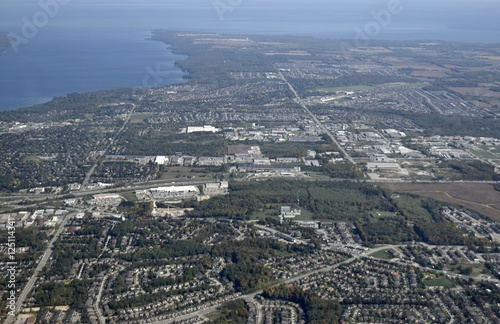 aerial view of  Holly area  towards the South shore in Barrie, Ontario Canada Wallpaper Mural
