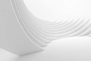 White Architecture Circular Background