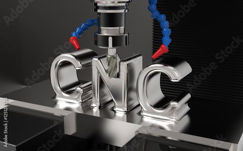 Fräsmaschine CNC Schrift